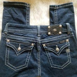MISS ME Skinny Jeans. Rhinestones, studded 28